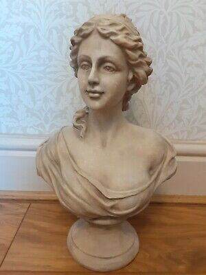 Bust Statue Roman Greek Garden House Ornament With Antique Appearance  • 45£