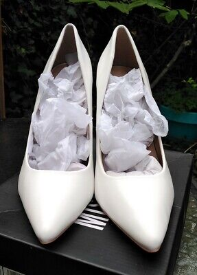 Missguided White PU Heels Women's Shoes UK8  • 5.80£