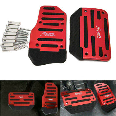 $ CDN6.25 • Buy Universal Red Non-Slip Automatic Gas Brake Foot Pedal Pads Cover Car Accessories