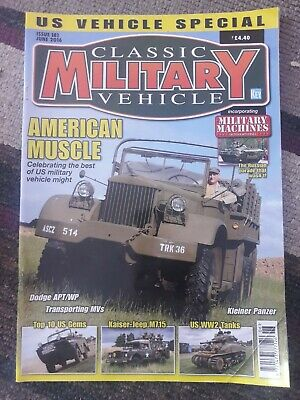 Classic Military Vehicle Magazine #181 June 2016. US Special • 4.25£