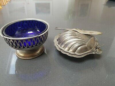 Vintage Silver Plated Shell Butter Dish And Falstaff Silver Plated Nut Bowl  • 14.50£