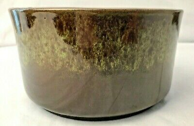 $16.95 • Buy Haeger Planter Brown & Green Glazed Round USA 6 H X 3.25 H Mid Century Modern