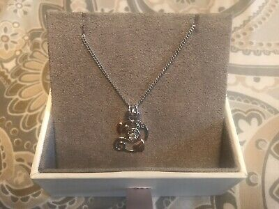 Clogau Pendant Necklace -Tree Of Life Origin Necklace-Sterling Silver Welsh Gold • 37£
