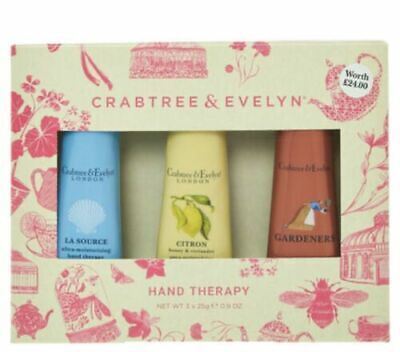Crabtree & Evelyn Hand Therapy Gift Set  - La Source / Citron / Gardeners 25g • 18.50£