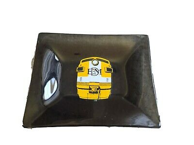 $27.95 • Buy Vintage Collectible Emd Electro Motive  Division Train Engine Glass Ashtray!
