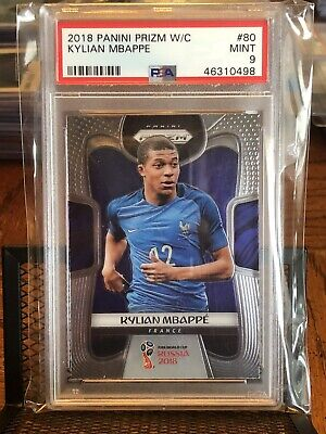 $ CDN232.25 • Buy Kylian Mbappe 2018 Panini Prizm World Cup #80 Rc Rookie France Psa 9 Mint💎💎