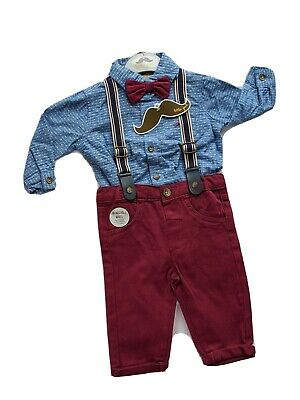£8 • Buy Baby Boy Smart Bow Tie Outfit - Shirt And Trousers - 6-12 Months