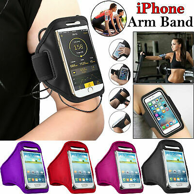 Running Sports Mobile Arm Band Gym Jogging Armband Holder Apple IPhone Mobile UK • 3.14£
