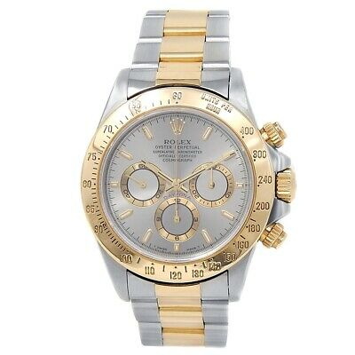 $ CDN17949.98 • Buy Rolex Daytona 18k Yellow Gold Stainless Steel Oyster Silver Men's Watch 16523