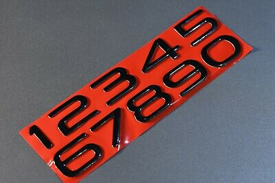AU30 • Buy Holden HSV Commodore VE VF Bootlid Number Badges BLACK Other Colors Available