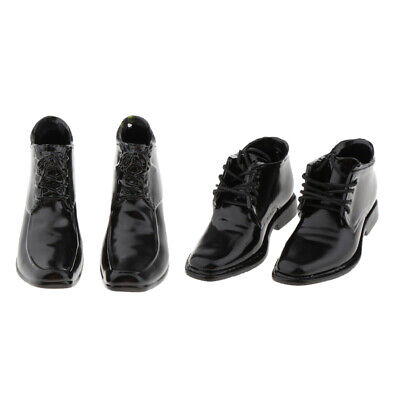 $14.73 • Buy 2Pairs 1:6 Scale PU Leather Shoes For 12  Enterbay TC Dragon Male Figures