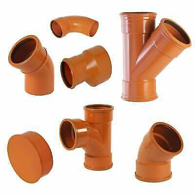 110mm 4 Inch Underground Drainage Sewer Soil Pipe Storm Fittings • 5.99£
