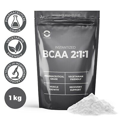 AU39.45 • Buy 1kg Pure Bcaa 2:1:1 Powder Unflavoured Amino Acid Pre Workout And Post Workout
