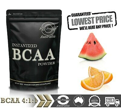 AU27.54 • Buy 500G PURE BCAA 4:1:1 INSTANTISED AMINO ACID POWDER (chose Your Flavour)