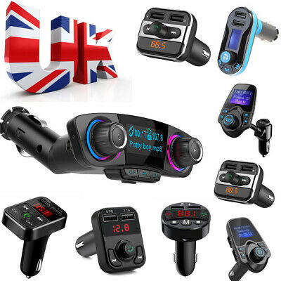 Bluetooth Car Kit Music FM Transmitter USB AUX Charger Radio Adapter MP3 Player • 7.99£