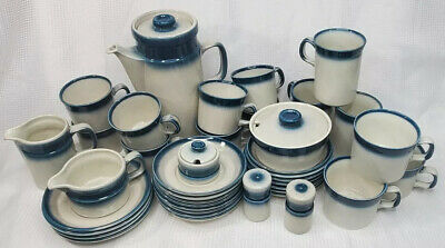 Wedgewood Blue Pacific Oven To Table Stoneware 42 Piece Snack And Coffee Set • 430.87£