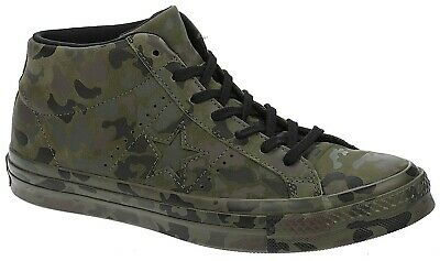 Converse One Star Chucky Taylor Unisex Utility Camouflage Green Mens Trainers • 82£