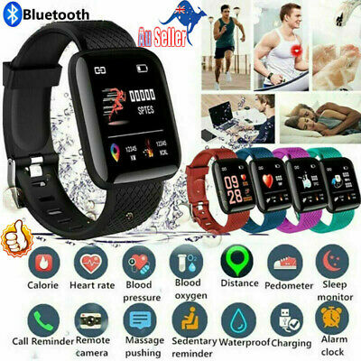 AU15.59 • Buy Bluetooth 116Plus Smart Watch Heart Rate Monitor Blood Pressure Fitness Tracker