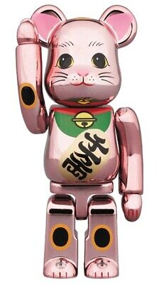 $119 • Buy BE@RBRICK Skytree Exclusive Lucky Cat Peach Gold Plated 100 Maneki Bearbrick