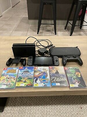 AU510 • Buy Nintendo Switch Grey Bundle 32GB Console - Plus 5 Games - Plus Pro Controller