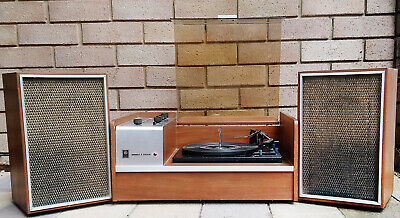 AU200 • Buy Vintage GE Module 4 Stereo Record Player With Speakers - *SAFE DELIVERY AVAIL*