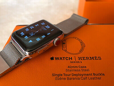 $ CDN554.86 • Buy Apple Watch Hermès Stainless Steel Series 3 42mm 44mm Hermes W/ Applecare+