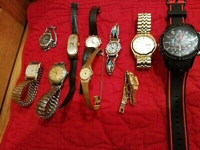 $ CDN34.35 • Buy LARGE WATCH LOT (100+) - Most Need Batteries Or Not Working - Lot Of Vintage