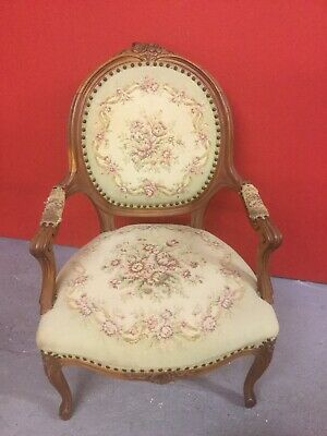 £125 • Buy Antique French Louis Style Open Arm Chair Sn-9c