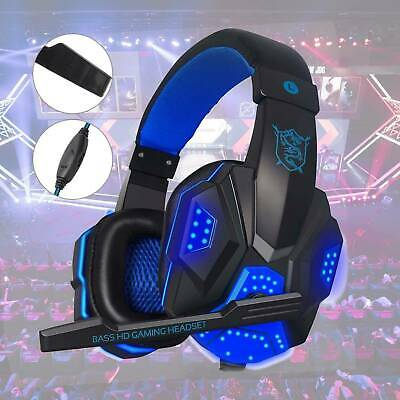 Bass HD 3.5mm Gaming Headset Headphones With Mic For PC Laptop PS4 One Headset  • 13.99£