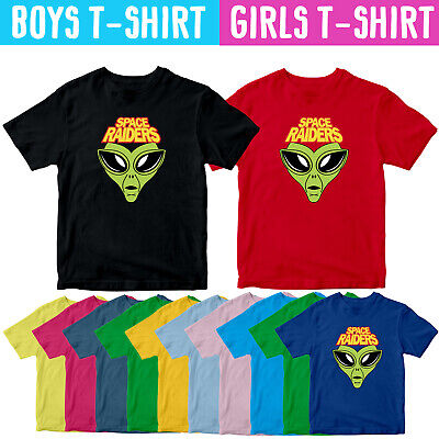Space Raiders Pickled Onion Kids T Shirt Funny Youth Boys Girls Gift Tee Top • 8.54£