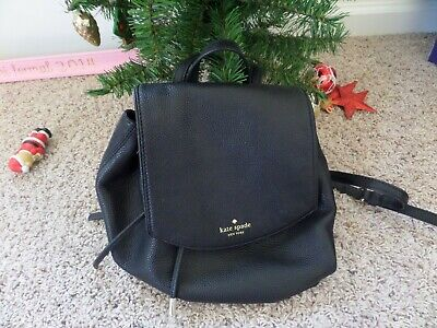 $ CDN93.85 • Buy Kate Spade Mulberry Street Small Breezy Black Pebbled Leather Backpack