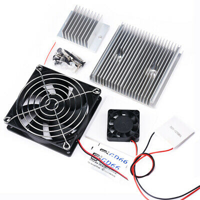 £16.37 • Buy 12V 6A 60W Thermoelectric Peltier Refrigeration Cooling System Cooler Fan