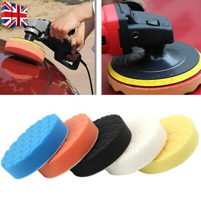 5X 6'' 150mm Car Polishing Heads Mop Pads Sponge Soft Foam Buffing Tool Set UK • 8.38£