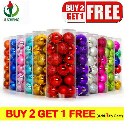 24Pcs/Pack Christmas Tree Balls Home Decorations Baubles Party Wedding Ornament • 4.25£