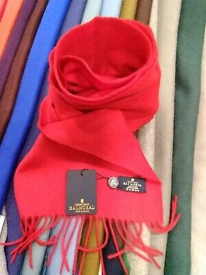 £34.99 • Buy 100% Pure Cashmere Scarf By The House Of Balmoral   Bright Red   Plain Colour