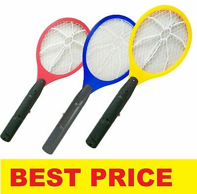 Large Electric Fly Insect Swatter Bug Mosquito Wasp Zapper Killer Electronic Zap • 5.99£