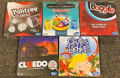 AU49.61 • Buy Lot Of 5 Hasbro Travel Size Clue Chutes & Ladders Trivial Pursuit Yahtzee Boggle
