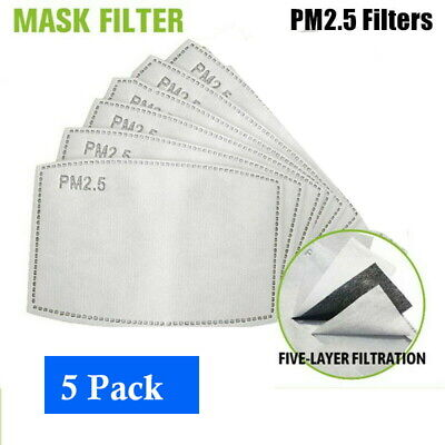 $ CDN14.99 • Buy Pack Of Replacement PM2.5 Filter For Reusable Masks - 5 Layer Protective