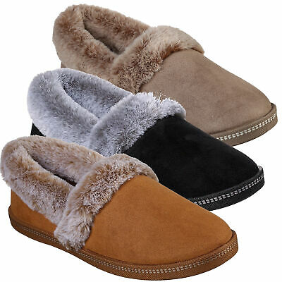 Womens Skechers Cozy Campfire-Team Toasty Warm Winter Slippers Sizes 3 To 8 • 25.99£