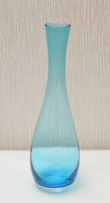 IKEA Light Blue Clear Glass Teardrop Shape Bud Vase ~ 9.8  Tall ~ Flower Holder • 10.49£