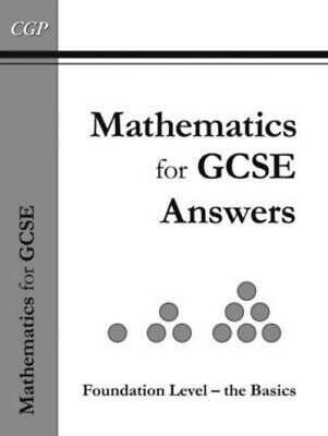Maths For GCSE, Foundation The Basics Answer Book Inc CD-ROM (A*-G Resits) By • 12.69£