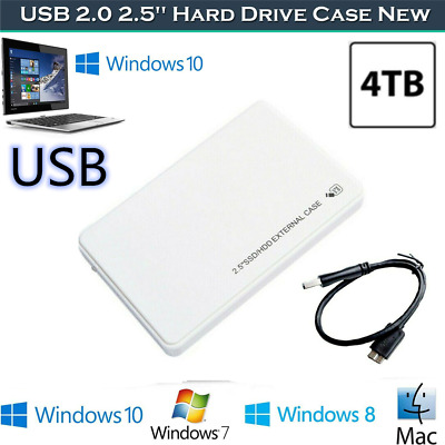 £5.09 • Buy USB 3.0 HDD External SATA Hard Drive Enclosure 2.5″Inch Case Caddy Approx White