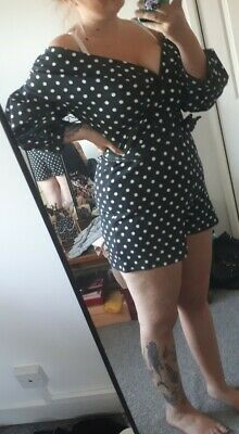 Plus Size Polka Dot Playsuit • 4£