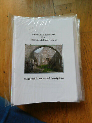 Genealogy-Scottish Monumental Inscriptions Book-Various Burial Grounds- Scotland • 3£