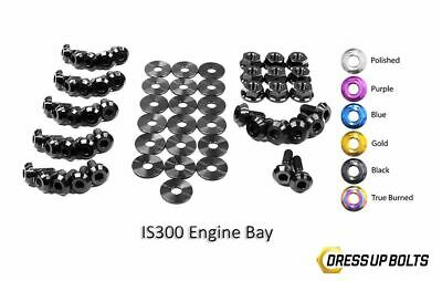 $ CDN382.26 • Buy Dress Up Bolts For IS300 Altezza 98-05 2JZ-GE Titanium Full Engine Bay Kit Black