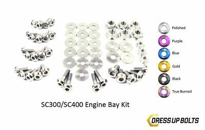 $ CDN362.49 • Buy Dress Up Bolts SC300 SC400 Soarer 92-00 2JZ-GE Titanium Engine Bay Polished