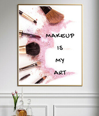 Beauty & Make Up Quote Prints Bedroom Home Decor Wall Art Typography Posters • 3.99£