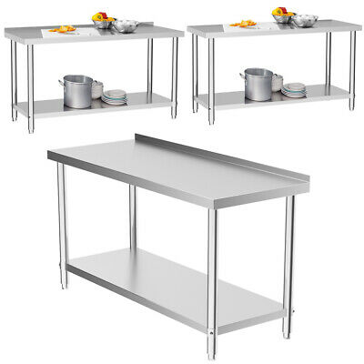 £119.95 • Buy Stainless Steel Commercial 4FT 1200mm Work Food Prep Table Workbench Kitchen Top
