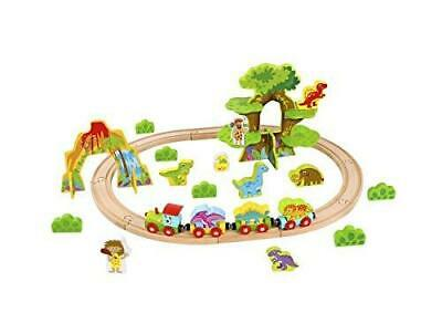 Tooky Toys 40pcs Medium Wooden Dinosaur Train Set • 19.99£