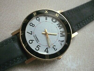 AU34.99 • Buy Men's Tommy Hilfiger Black, Gold And Silver Water Resistant Watch
